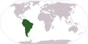 Location of the South America