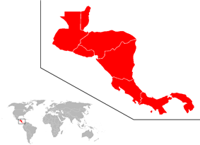 Location of Central America