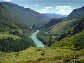 Katun River in Altai Mountains