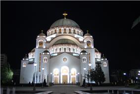 Cathedral of Saint Sava, Belgrade by night.jpg