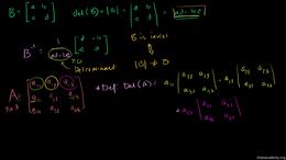 Finding inverses and determinants : 3x3 ... Volume Linear Algebra series by Sal Khan