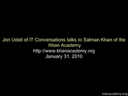 Talks and Interviews : Sal Khan Intervie... by Sal Khan