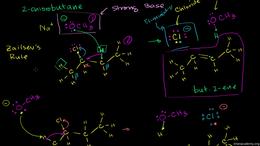 Elimination reactions : Zaitsev's Rule Volume Organic Chemistry series by Sal Khan