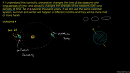 Earth's rotation and tilt : Precession C... Volume Cosmology and Astronomy series by Sal Khan