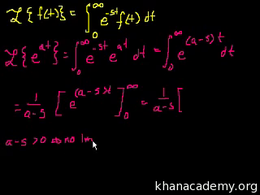Laplace transform : Laplace Transform 2 Volume Differential Equations series by Sal Khan