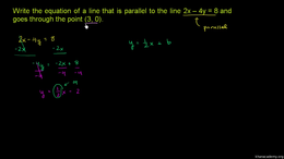 More analytic geometry : Parallel Line E... Volume More analytic geometry series by Sal Khan