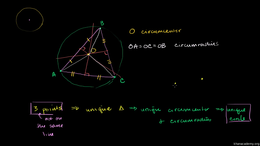 Perpendicular bisectors : Three Points D... Volume Geometry series by Sal Khan