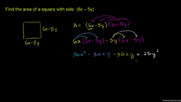 Multiplying monomials, binomials and pol... Volume Algebra series by Sal Khan