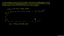 Dependent events : Example: Bag of unfai... Volume Trigonometry and precalculus series by Sal Khan