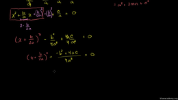 Completing the square : Example 4: Compl... Volume Algebra series by Sal Khan