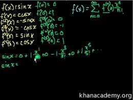 Sal's old Maclaurin and Taylor series tu... Volume Calculus series by Sal Khan