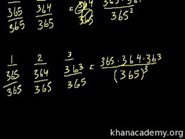Probability using combinatorics : Birthd... Volume Trigonometry and precalculus series by Sal Khan