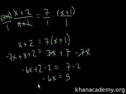 Old Algebra : Algebra: Linear Equations ... by Sal Khan