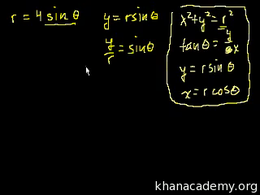 More trig examples : Polar Coordinates 3 Volume Trigonometry and precalculus series by Sal Khan