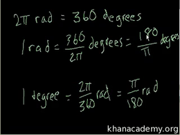 Radians : Radians and degrees Volume Basic trigonometric ratios series by Sal Khan