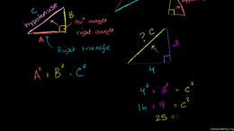 Pythagorean theorem : The Pythagorean Th... Volume Geometry series by Sal Khan