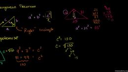Pythagorean theorem : Pythagorean Theore... by Sal Khan