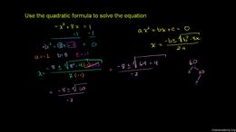 The quadratic formula (quadratic equatio... Volume Algebra series by Sal Khan