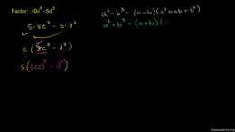Dividing polynomials : Difference of Cub... Volume Algebra series by Sal Khan