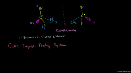Chirality and the R,S system : Cahn-Ingo... Volume Organic Chemistry series by Sal Khan