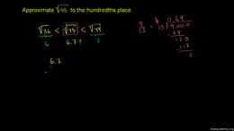 Radical radicals : Approximating Square ... Volume Arithmetic and Pre-Algebra series by Sal Khan