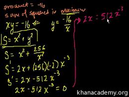 Optimization with calculus : Optimizatio... Volume Calculus series by Sal Khan