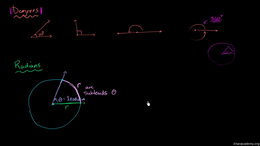 Radians : Introduction to radians Volume Basic trigonometric ratios series by Sal Khan