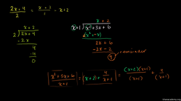 Dividing polynomials : Polynomial Divisi... Volume Algebra series by Sal Khan