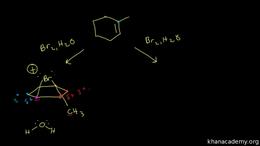 Alkene reactions : halohydrin formation Volume Organic Chemistry series by Sal Khan