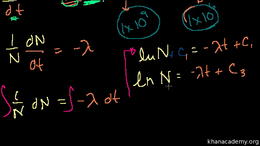 Radioactive decay : Exponential Decay Fo... Volume Science & Economics series by Sal Khan