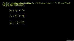 Arithmetic properties : Commutative Law ... Volume Order of operations series by Sal Khan
