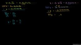 Converting repeating decimals to fractio... Volume Algebra series by Sal Khan