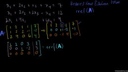 Matrices for solving systems by eliminat... Volume Linear Algebra series by Sal Khan