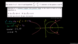 IIT JEE : IIT JEE Circle Hyperbola Commo... by Sal Khan
