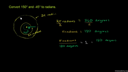 Radians : Example: Converting degrees to... Volume Basic trigonometric ratios series by Sal Khan