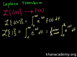 Laplace transform : Laplace Transform 1 Volume Differential Equations series by Sal Khan