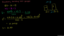 Bernoulli distributions and margin of er... Volume Probability and statistics series by Sal Khan
