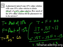 Algebra I : CA Algebra I: Word Problems Volume Test Prep series by Sal Khan