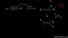 Alkyne reactions : reduction of alkynes Volume Organic Chemistry series by Sal Khan