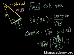Basic trigonometric ratios : Using Trig ... Volume Basic trigonometric ratios series by Sal Khan