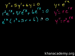 Linear homogeneous equations : 2nd Order... Volume Differential Equations series by Sal Khan