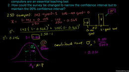 Confidence intervals : Confidence Interv... Volume Probability and statistics series by Sal Khan