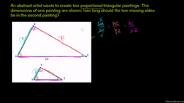 Triangles : Application of Similar Trian... Volume Triangles series by Sal Khan
