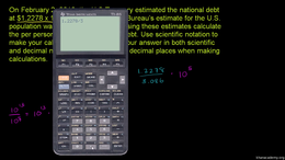 Scientific notation : Scientific notatio... Volume Arithmetic and Pre-Algebra series by Sal Khan