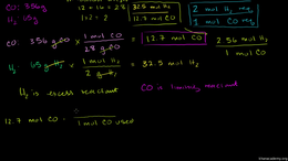 Thermodynamics : Limiting Reactant Examp... Volume Science & Economics series by Sal Khan