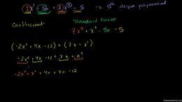 Polynomial basics : Addition and Subtrac... Volume Algebra series by Sal Khan