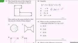 CAHSEE : CAHSEE Practice: Problems 43-46 by Sal Khan