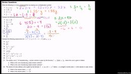 Old Algebra : Examples of evaluating var... by Sal Khan