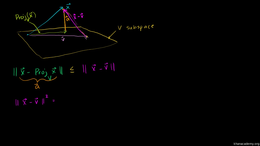 Orthogonal projections : Projection is c... Volume Linear Algebra series by Sal Khan