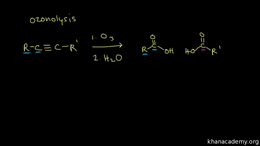 Alkyne reactions : halogenation and ozon... Volume Organic Chemistry series by Sal Khan